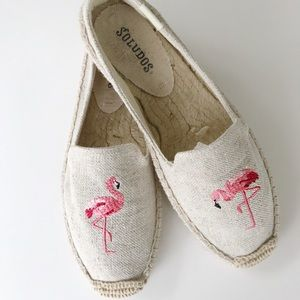 Soludos Flamingo Smoking Slipper